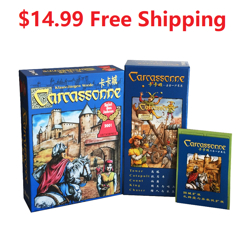 NEW Carcassonne Core Board Game Includes River Expansion Pack Only $14.99