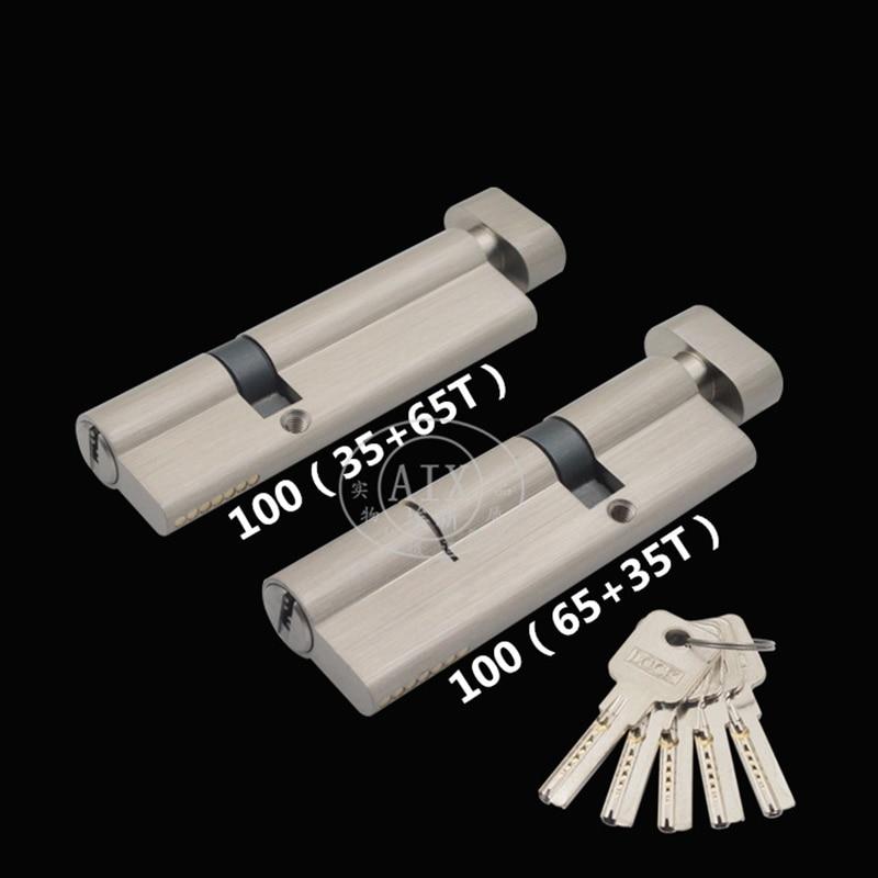 Irregular Security 100mm Door Lock Brass Cylinder Single Open Knobs Eccentric Entrance Bedroom Cylin