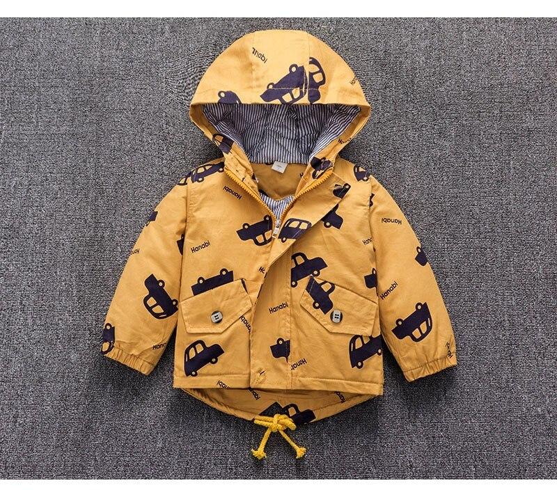 CROAL CHERIE Warm Winter  Jacket Coat Baby Boys Parka Cute Car Kids Jacket Hood Winter Children Jacket Fall Toddler Outerwear  (5)