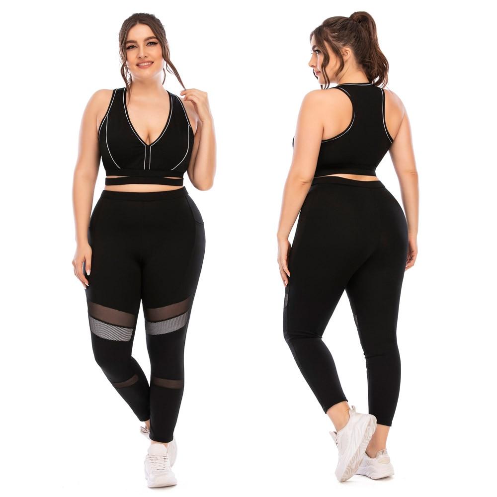 Novo 2021 mulheres yoga terno sportsuits plus size para feminino ginásio esporte correndo define grande grande agasalho tacking wear