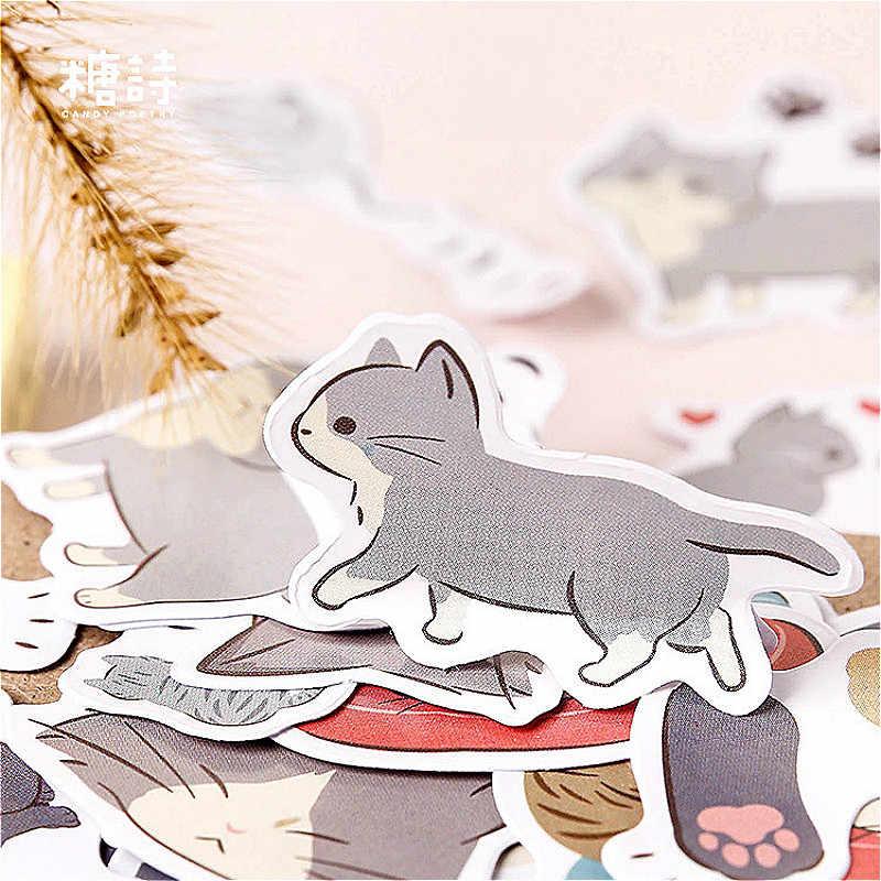 1PCS Nuovo Gatto Bello del Diario di Cancelleria Adesivi Pianeta di Carta Adesiva Creativo Kawaii Adesivi Decorazione Diario Scrapbooking