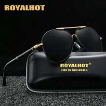RoyalHot Polarized Oval Aloy Frame Sunglasses Men Women Classic Driving Sun Glasses  Shades Oculos masculino Male 90084