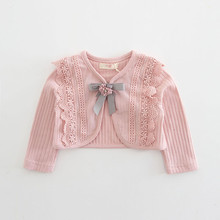 Cotton Baby Coat Girls Bow Embroidery Princess Baby Coat New
