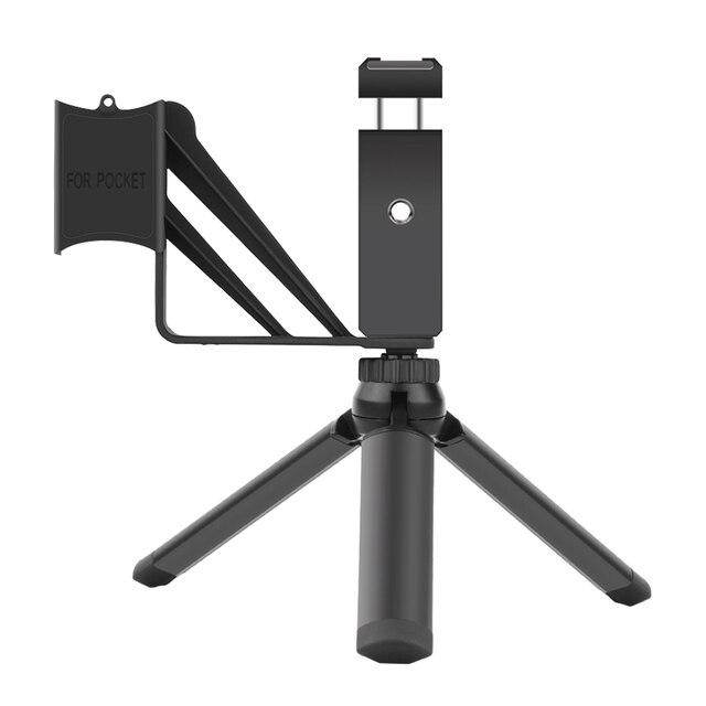 Pour support de téléphone de poche trépied pliant 3.5mm adaptateur micro câble de données Microphone pour DJI Osmo poche 2 accessoires dextension de caméra