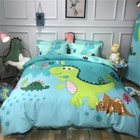 Cartoon Kids Bedding Set Crib Twin Baby Children Duvet Cover Set 3/4PCS Bed Linen Set Dinosaur No Filler Home Textile
