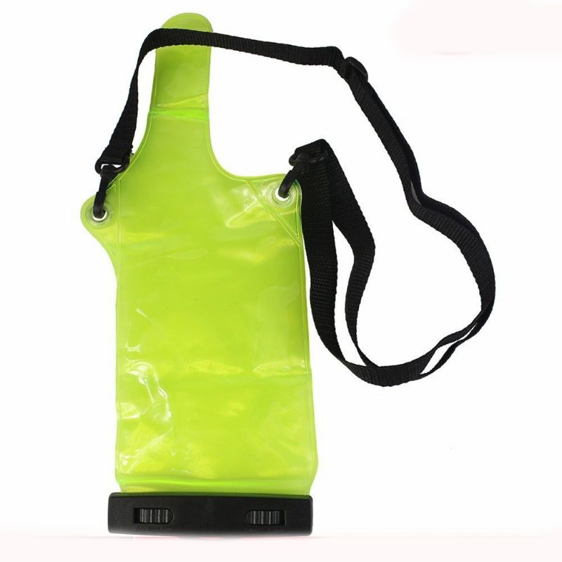 Green Two Way Radio Waterproof Bag Case For Motorola Kenwood Baofeng UV-5R UV-B2 Quansheng Walkie Talkie Rainproof Bag