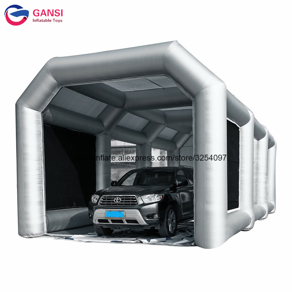 Outdoor Inflatable Car Cover Painting Tent Oxford Cloth Inflatable Spray Booth Tent With Free Air Blower