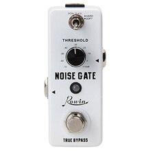 Rowin الضوضاء بوابة الحد من الضوضاء القامع الغيتار تأثير دواسة 2 طرق صحيح الالتفافية الألومنيوم مقشر سبائك الغيتار اكسسوارات