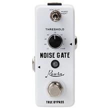 Rowin supresor de ruido para puerta de guitarra, efecto de Pedal de guitarra, 2 modos, Bypass verdadero, carcasa de aleación de aluminio, accesorios para guitarra