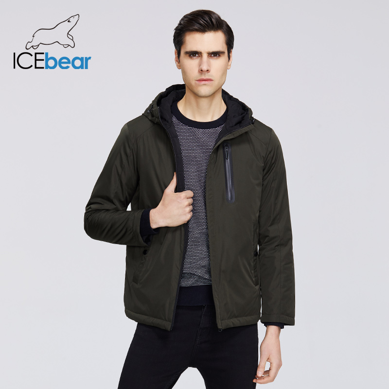 ICEbear 2020 Mens Spring Jacket Mens Hooded Jacket Men Zipper Clothing Casual Men Clothing MWC20806I title=