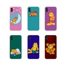Cute Lovely Cartoon Garfield For Samsung Galaxy J1 J2 J3 J4 J5 J6 J7 J8 Plus 2018 Prime 2015 2016 2017 Silicone Phone Case Cover(China)