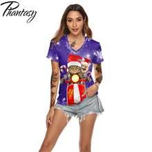 Модные женские футболки phantasy merry christmas с 3d принтом