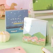 100pcs Kawaii Nature Series Memo Pad Sticky Notes Memo Notebook Stationery Post Note Paper Stickers Office School Supplies