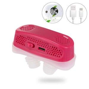 Image 3 - Электронные устройства от храпа, кислородный концентратор, стопор от храпа, расширитель для носа, зарядка через USB, 3 цвета на выбор