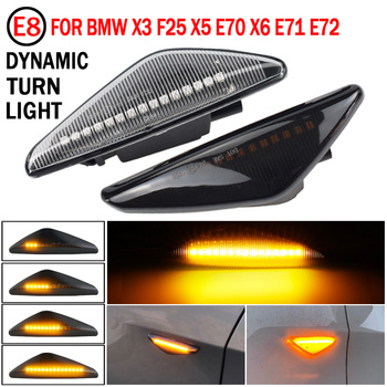 For BMW X3 F25 X5 E70 X6 E71 E72 2008-2014 Dynamic LED Turn Signal Side Marker Lights Fender Lamp Sequential Indicator Lamps image