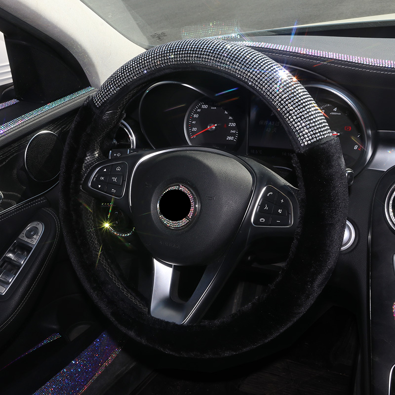 "faux fur purple bling steering <font><b>wheel</b></font> <font><b>cover</b></font> 15"" bling <font><b>for</b></font> mercedes bmw honda crv girls <font><b>women</b></font> pink diamonds cute <font><b>car</b></font> accessories image"