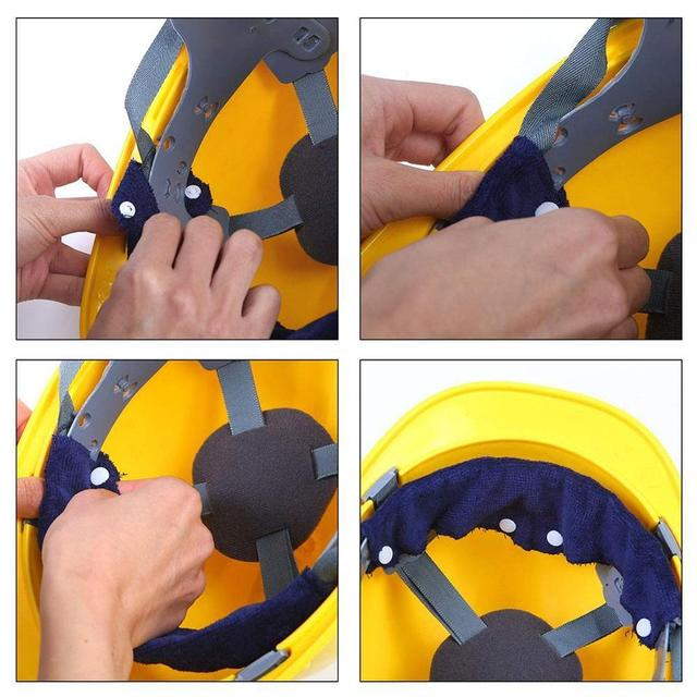 1pc Summer Selling Beat The Heat Blue Snap-on hard hat sweatband sweat belt for Safety helmet inner d90621 4