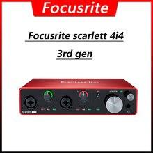 Focusrite scarlett 4i4 3rd поколения аудио Интерфейс 4 дюйма/4/24