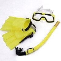 ホット子供ダイビングマスクセット防曇水泳ゴーグルマスクシュノーケルフィンキットの MVI- ing