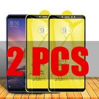 2 uds 9D de vidrio para Xiaomi Mi Max 3 protectora de vidrio en El para Xiomi Mi MAX 3 MAX3 MIMax3 Film Protector de pantalla