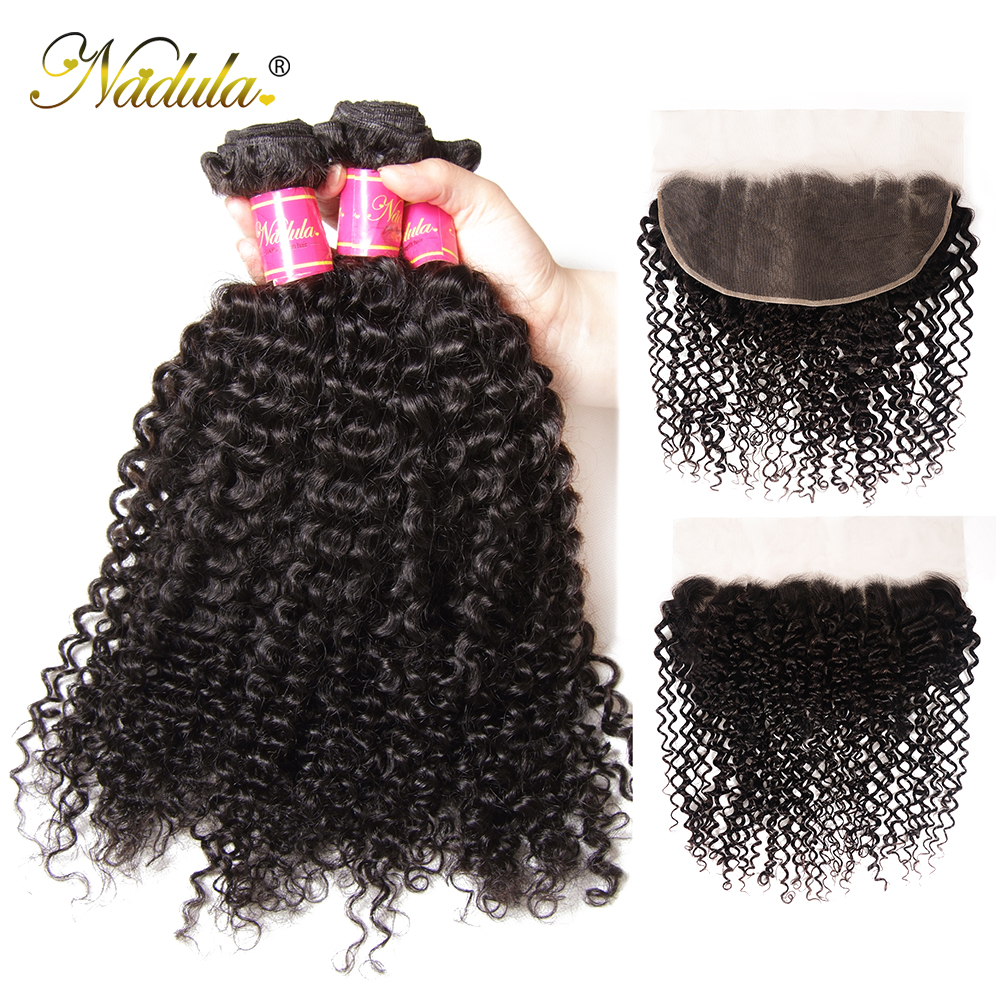Nadula Hair  Curly Bundles With Frontal Closure 100%  Frontal 13*6 Ear to Ear Lace Frontal With Bundles 2