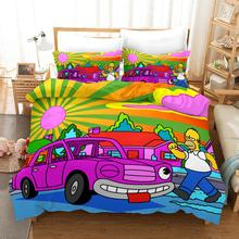 BeddingOutlet Simpson Bedding Sets Funny Cartoon Duvet Cover Set Luxury Children Bedroom Bed Cover Custom Comforter Cover
