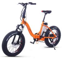 Electric Snow Bike Two Wheels Portable Elecctric Bicycle Off Road Tires 350W/500W Powerful Electric Bicycle Adult
