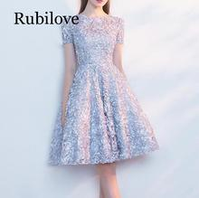 Rubilove Banquet dress 2019 new short ladies skirt bridesmaid annual meeting noble and thin female sprin