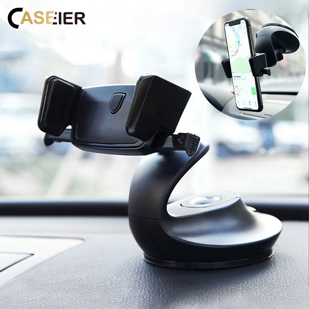 CASEIER Auto Lock Car Phone Holder For Phone In Car Dashboard Windshield Desk Holders Air Vent Mount Phone Stand Support Stands