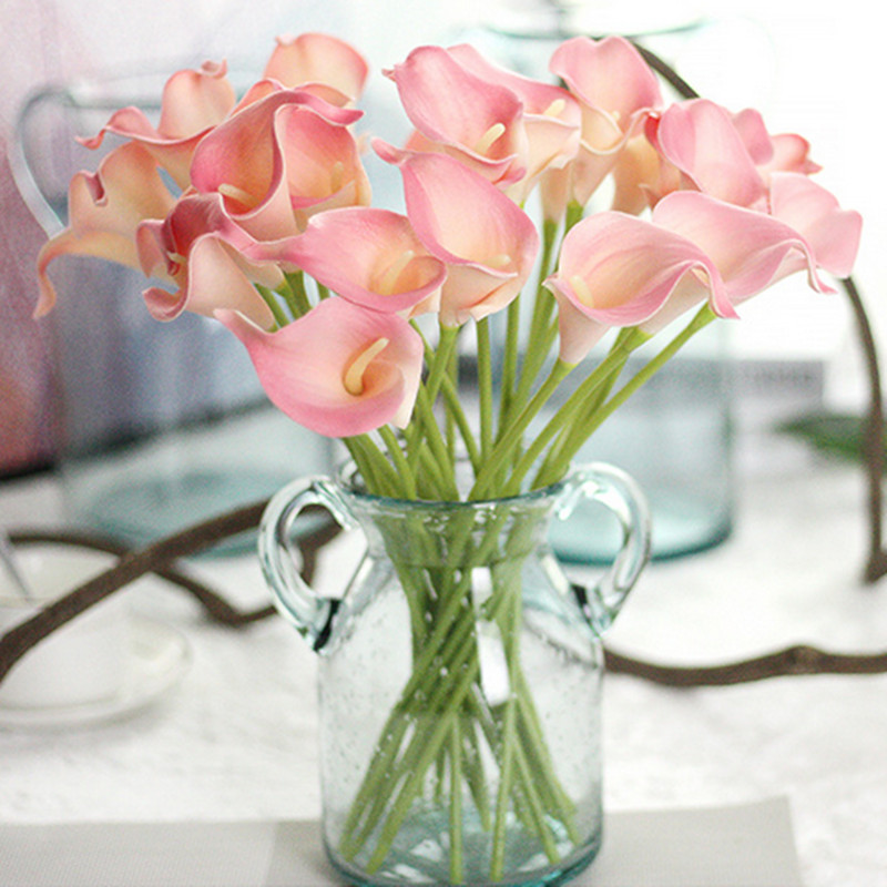 1PC PU Mini Tulips Artificial Flowers For Home And Wedding Decoration Flowers 28