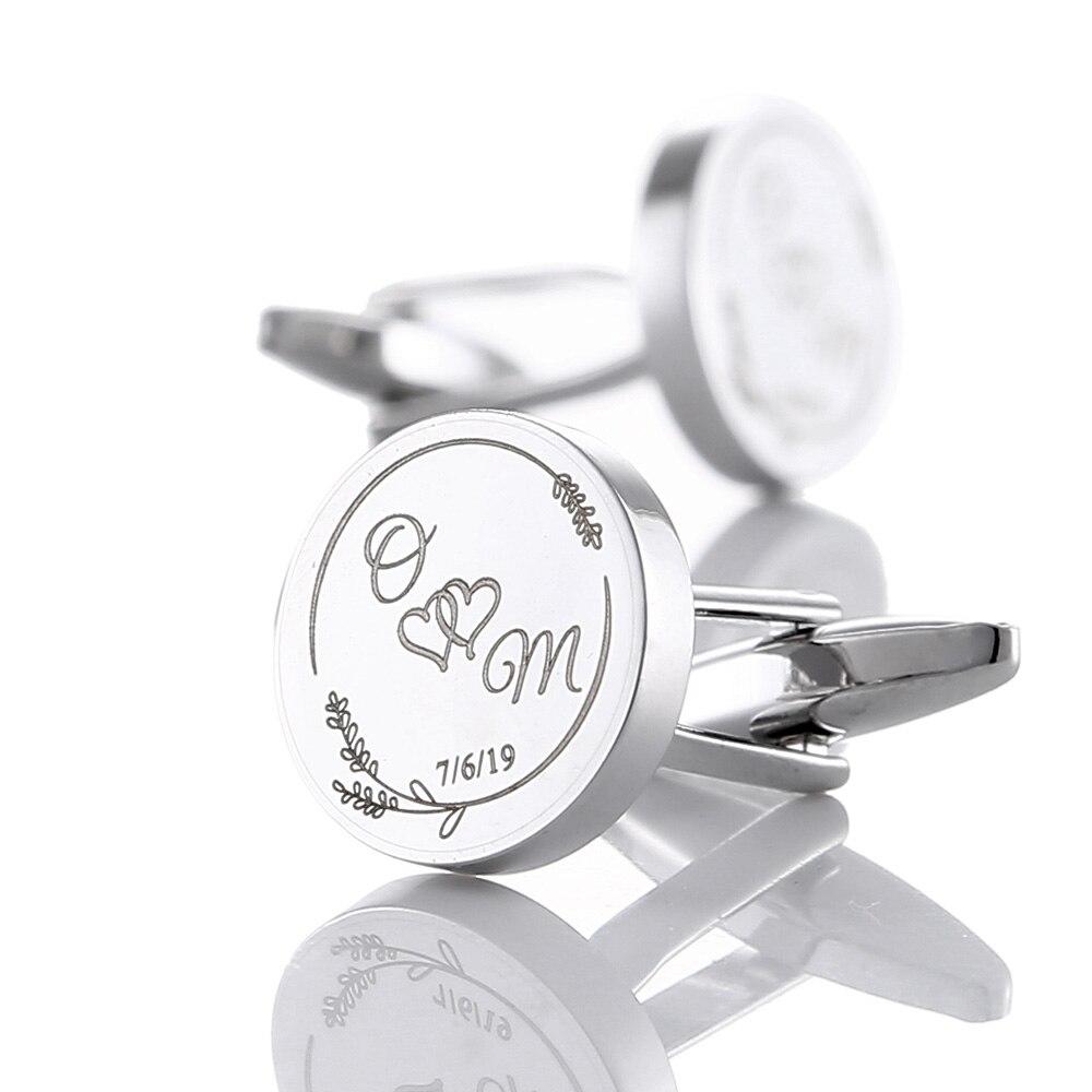Wedding Cuff Link Gift for Him gift for groom engagement cufflink for men Stainless steel cuff anniversary gift cufflink HELP
