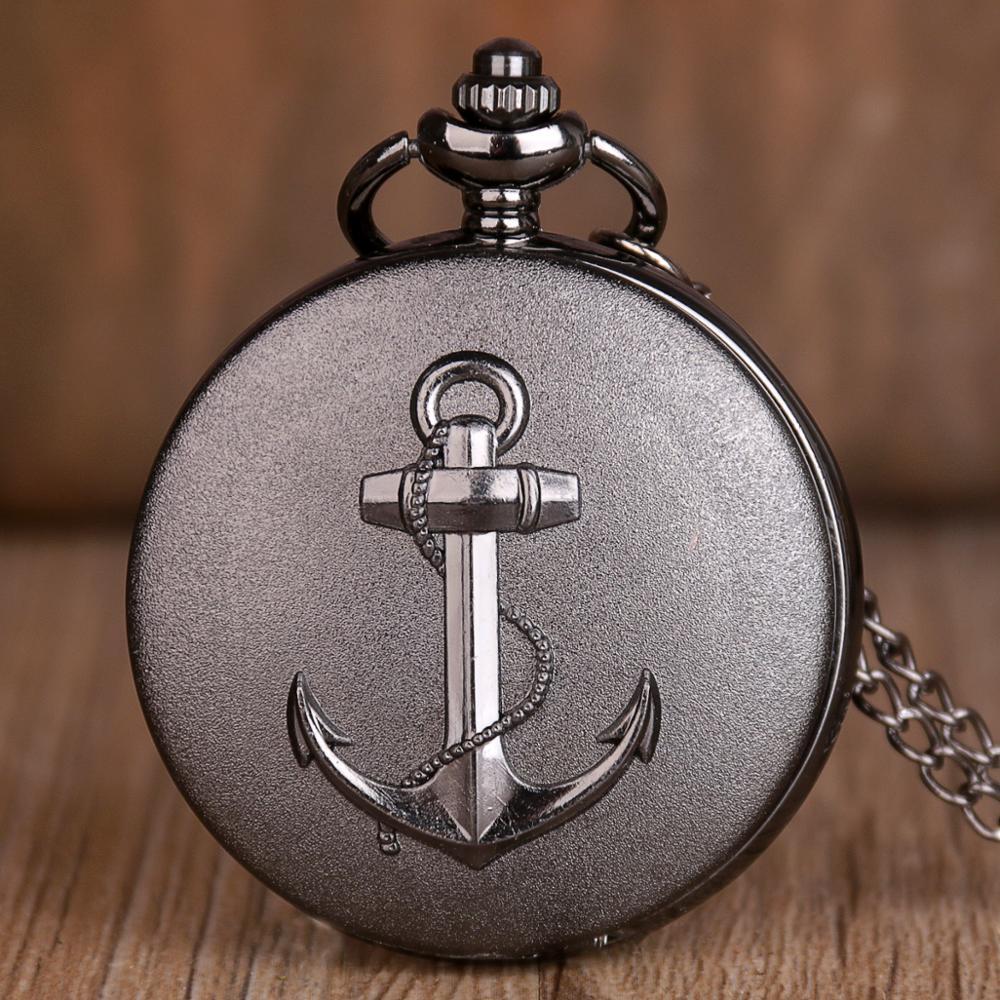 Top Movie Theme Watches Pirates Of The Caribbean Necklace Men Women Chirldren Gifts Quartz Pocket Watch Anchor Seaman XH3014
