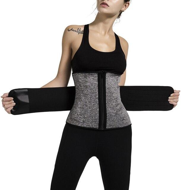 Women Sweat Body Suit Sweat Belt Shaper Premium Waist Trimmer Belt Waist Trainer Corset Shapewear Slimming Vest Underbust
