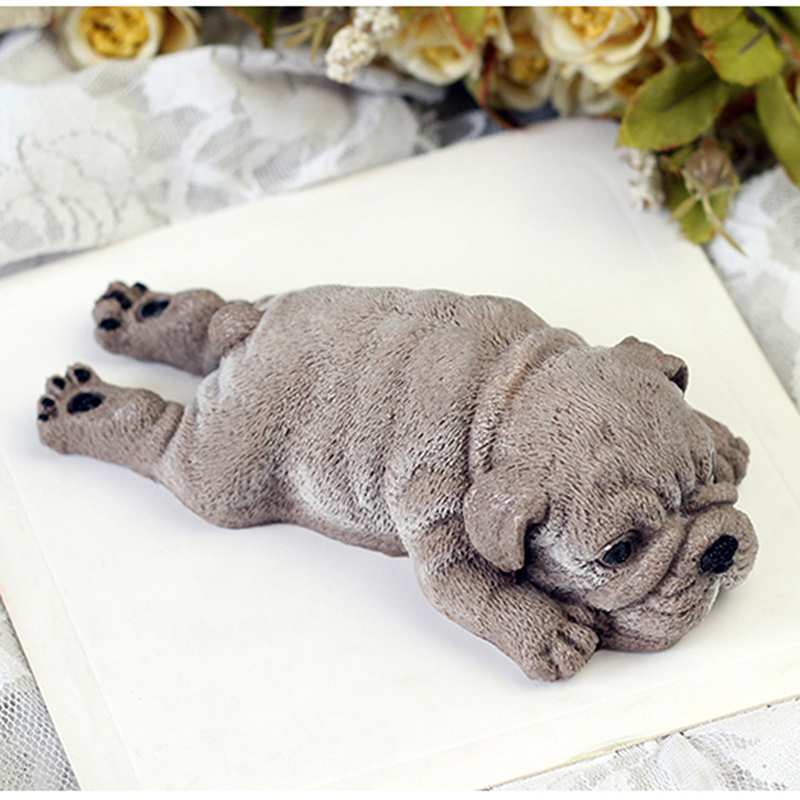 Cute Dog Silicone Mold Mousse Cake 3D Shar Pei Mould Ice Cream Jello Pudding Blast Chilling Tool DIY Fondant Decoration