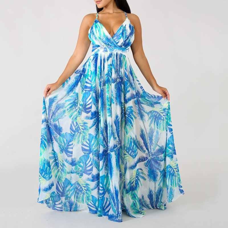 שמלה קיצית קיץ נשים ללא משענת שיפון מקסי שמלת off שרוול Hlater Boho חוף שמלת גלימות צד ארוך שמלת Vestidos נקבה