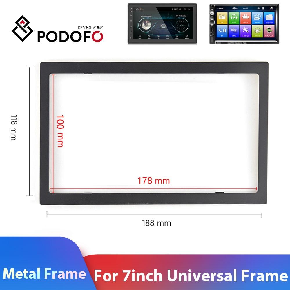 Podofo 2 Din Car Radio Frame For 7inch Car Multimedia Player Metal Frame For Hyundai Nissian Toyota Autoradio 2 Din Car Frame