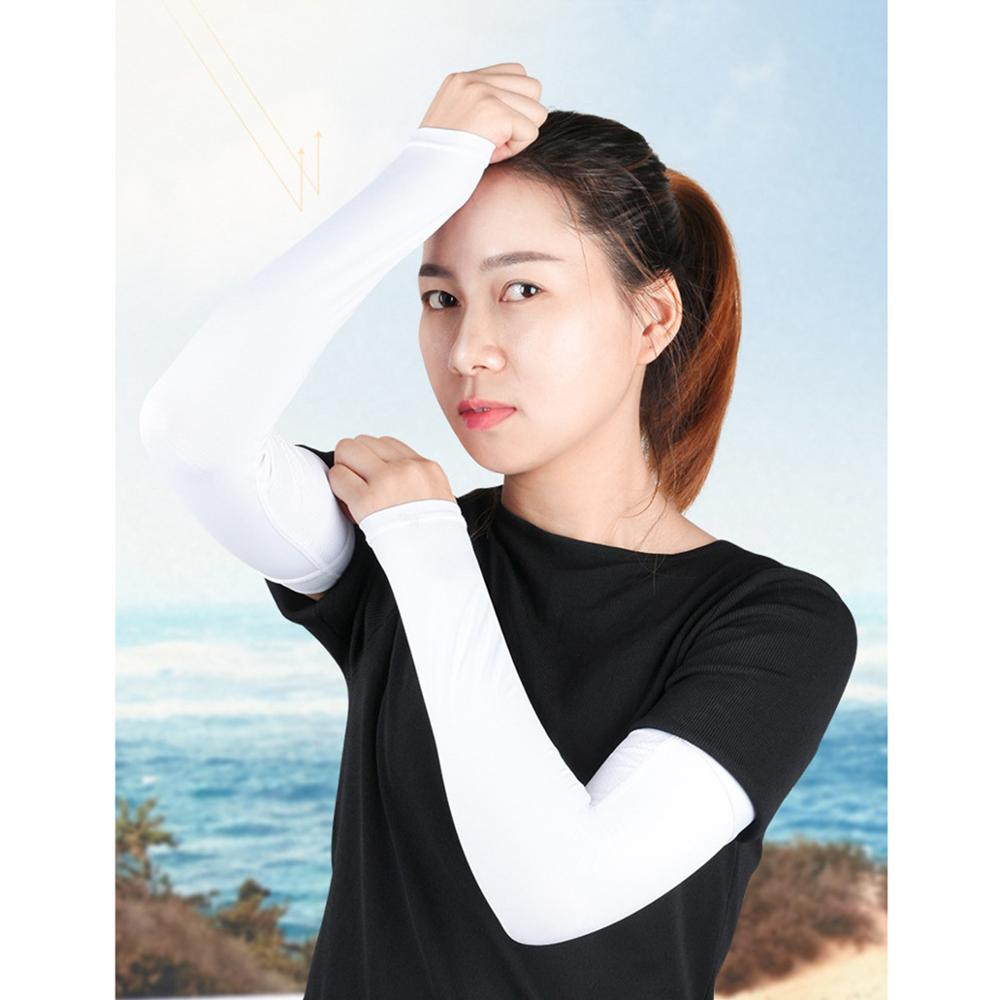 running - 2Pcs Arm Sleeves Sports Safety Running Warmers Sun UV Protection Hand Sleeve Cover Cooling Warmer for Golf Cycling Fishing