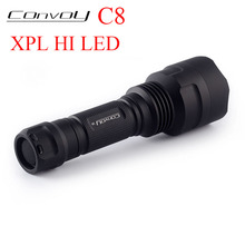 цена на Convoy C8 with XPL HI LED Flashlight Linterna LED Fishing Camping Police Torch Tactical Flash Light 18650 Bicycle Lamp 7135*8