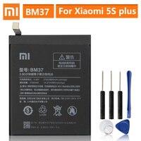 بطارية بديلة أصلية لهاتف شاومي Mi 5s plus 5Splus BM37 بطارية هاتف أصلية 3800mAh