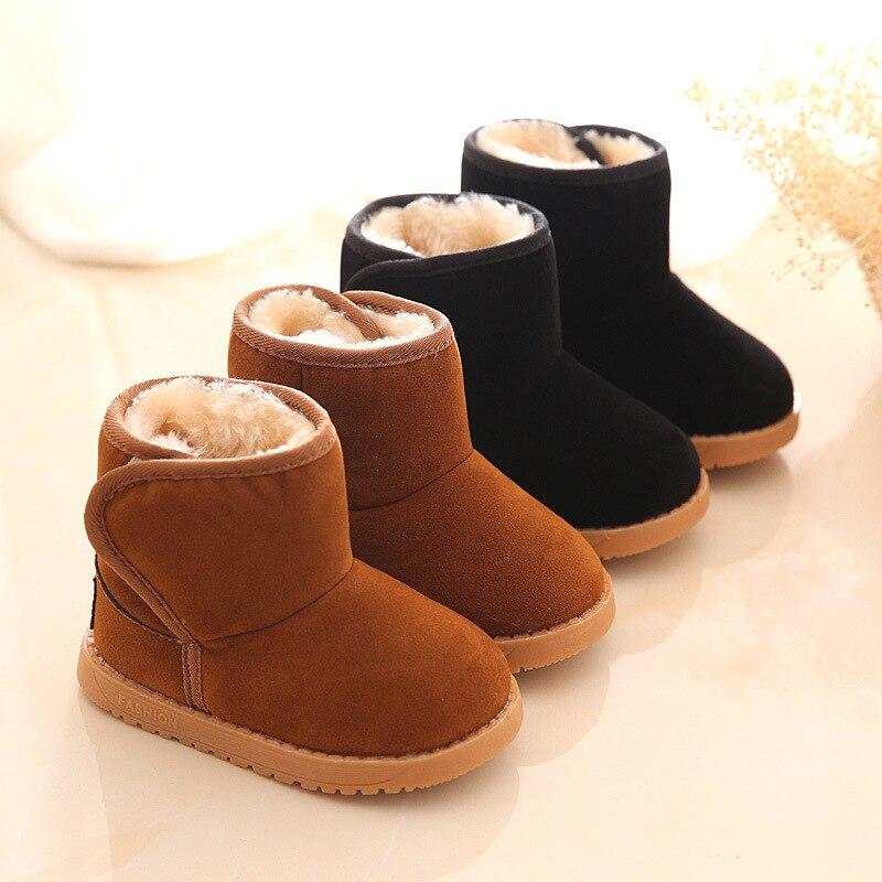 Новые плюшевые теплые детские ботинки, модные детские зимние ботинки, обувь для мальчиков и девочек, зимняя обувь, детские ботильоны