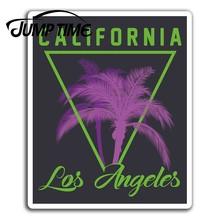 Pegatinas de vinilo de Los Ángeles y California, calcomanía divertida para equipaje, maletero, ventana y coche