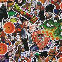Blinghero Dragon Ball Stiker 56 Buah/Set Anime Stiker Anak-anak Stiker Graffti Stiker untuk Diary Album Stiker Decals BH0111(China)