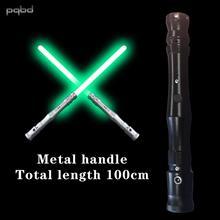 pqbd Lightsaber Glowing Toy Metal Handle with Sound Effect Laser Sword Flashlight Kids sable laser Children Toys