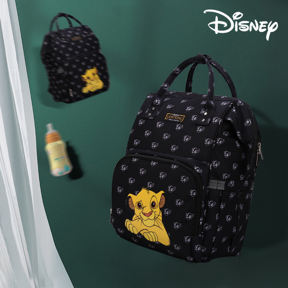 Disney The Lion King Mummy Bag Wish USB Interface Diaper Bag Baby Care Large Capacity Nappy Bag Backpack Mommy Multifunction
