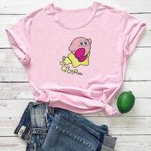 Cute Stars Graphics T Shirt Women Short Sleeve Tee Women Cotton Fashion Tshirt Women Top Pink Femme T-shirts Harajuku Top