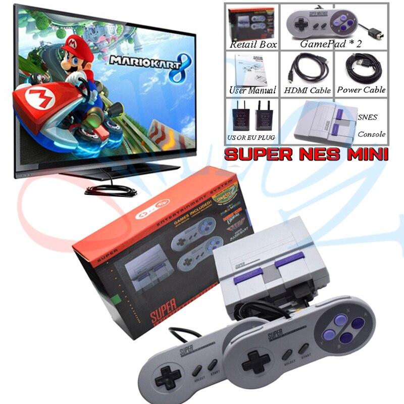 Drop Super HD HDMI sortie SNES rétro classique lecteur de jeu vidéo de poche TV Mini Console de jeu intégré 21 jeux avec double manette