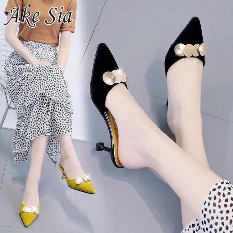 2019 moda kadın seksi yüksek topuklu kadın lüks perçinler sığ ağız sivri Pu stiletto yüksek topuklu seksi balo düğün ayakkabı