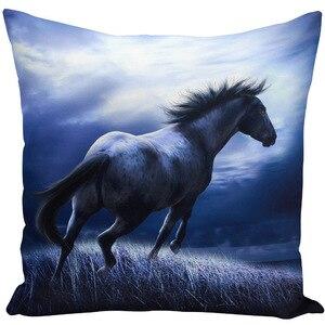 Image 4 - Throw Pillow Bts Case 45x45 Animal Print War White Horse Cushion Cover Sets for Chair Sofa Decorative Home Farmhouse Decor