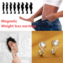 Fashion Magnetic Weight Loss Earrings 925 Sterling Silver Health Care Weight Loss Earrings Chakra Fat Burning Magnetic Jewelry
