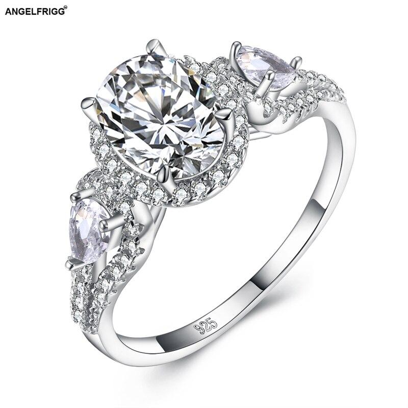 Genuino 925 Plata Negro anillo de circonia